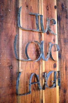 LIVE LAUGH LOVE 100 recycled from Napa by winecountrycraftsman, $100.00