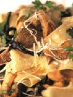 Pappardelle with Mixed Wild Mushrooms recipe from Jamie Oliver via Food Network