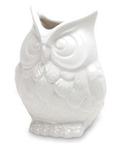 Look at this #zulilyfind! White Owl Vase by Abbott #zulilyfinds