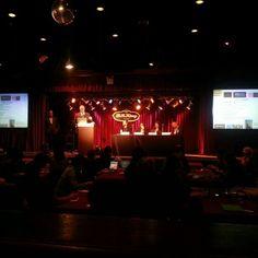 David Adler introduces the panel at #SMWEvents at B.B. King's. #eventprofs #BizBash