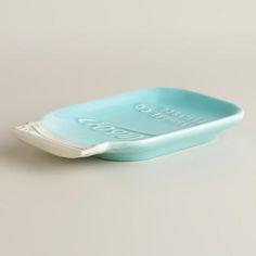 Mason Jar Ceramic Spoon Rest | World Market