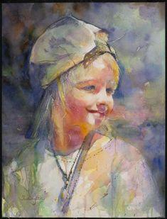 Fealing lin #watercolor #portrait