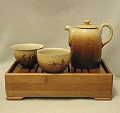 Ceramic tea set.