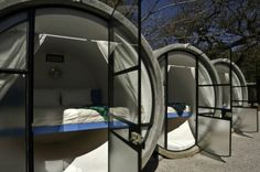 TubeHotel In Mexico Accommodations In Recycled Concrete Pipes    Inspiration for the Tubehotel came from the work of architect Andreas Strauss and Desparkhotel