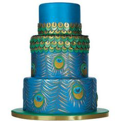 :) ~ Incredible peacock wedding cake ~ Enjoy!