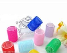 JP New 6Pcs/Set Big Self Grip Hair Rollers Cling Any Size DIY Hair Curlers