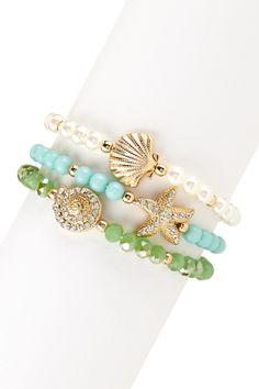 Olivia Welles Seashell Treasures Bracelet Set | Nordstrom Rack