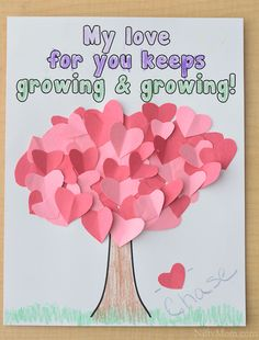 The best DIY projects & DIY ideas and tutorials: sewing, paper craft, DIY. DIY Valentine's Day Gifts : Preschool Valentine's Day Craft with free printable activity sheet -Read Preschool Valentine Crafts, Kinder Valentines, Valentine Theme, Daycare Crafts, Valentines Day Activities, Valentines Day Hearts, Valentines For Kids, Valentines Crafts For Preschoolers, Free Preschool