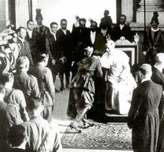 Fascist Franco of Spain Generals coming up to kiss the Pope's ring ...