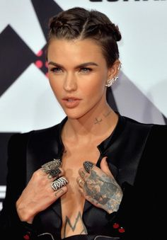 Ruby Rose put her glamorous side on display with sleek and sexy androgynous ensemble at the red carpet of the MTV EMA's 2015 on October 25, 2015 in Milan, Italy....