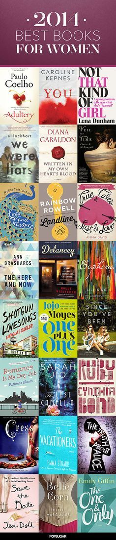 "Rainbow Rowell (Landline) & Morgan Matson (Since You've Been Gone) are two of my favorite author discoveries of 2014. We Were Liars was good, but hard to get thru.  Some of these are on my ""to-read"" list for the next year!"