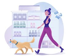 Shopping landing page illustration by Jasmijn Solange Evans Saint Charles, Show And Tell, Family Guy, Fictional Characters, Shopping, Landing, Evans, Illustrations, Illustration
