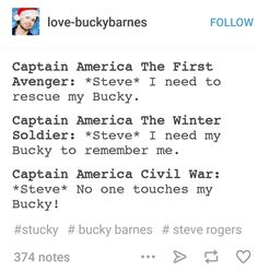 Steve and his Bucky