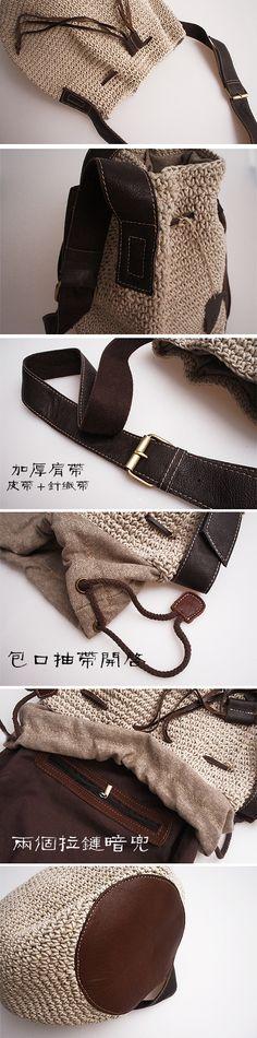 Bolsa linha de fluido artesanal das mulheres saco tecido saco de crochê couro de couro de um ombro cross body bolsa rústico das mulheres em Bolsas de Ombro de Bolsas e Malas no AliExpress.com | Alibaba Group