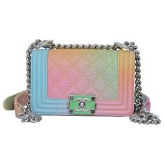 6c95e8b5275c Super Rare Chanel MICRO Rainbow Cuba Boy Handbag '17 Crossbody NEW    1stdibs.com