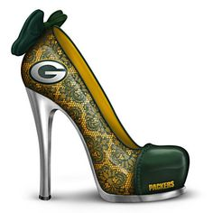 "NFL-Licensed ""Leading The Pack"" Green Bay Packers High Heel Figurine, $29.99 + S"