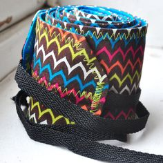 Multi Colored Wavy Print Crossfit Wrist Wraps by superphine, $15.00