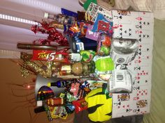 Boyfriends 21st birthday basket.....so want to do this for my babes 21st