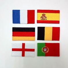 france spain germany Belgium england Portugal flag patches Sew on Embroidered patch Motif Applique #Affiliate