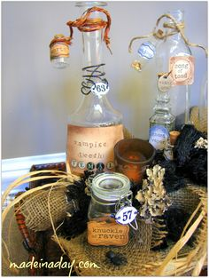 Pick-Your-Potion Centerpiece - Made in a Day. Halloween
