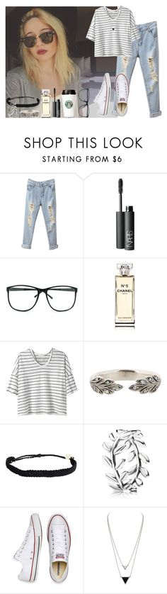 """""""FUNNY DAY WITH BEA"""" by diirectiioner69 ❤ liked on Polyvore featuring BEA, NARS Cosmetics, Chanel, Alexander Yamaguchi, Cathy Waterman, Pura Vida, Pandora, Converse and House of Harlow 1960"""