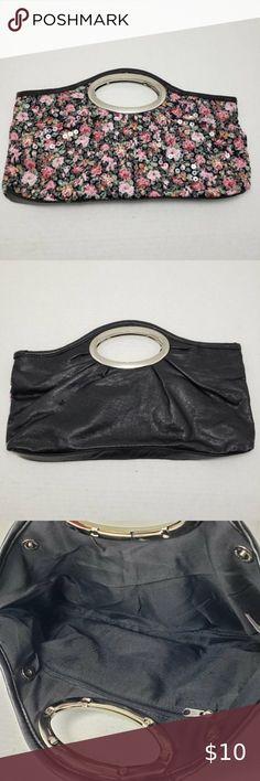 "5.5/"" Large Flower Handmade Purse Genuine Leather Floral Snap Vintage Key Ring"