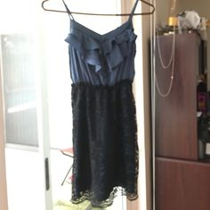 Cute and casual dress Cute black and blue dress perfect for work Xhilaration Dresses Mini