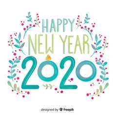 Lettering happy new year 2020 Free Vector Freepik freevector freewinte Happy New Year Letter, Happy New Year Baby, Happy New Year Images, Happy New Year Design, Happy New Year Cards, New Year Designs, New Year Wishes, New Year Greetings, Happy New Year 2020