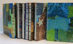 Collage art of Laura Lein-Svencner: Coptic Stitch Journal bookbinding