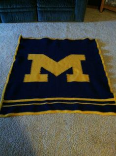 Michigan Crochet Lap Blanket