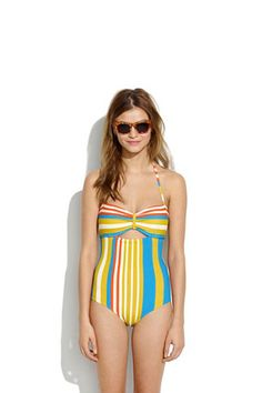 Lauren Moffatt™ Challenger One-piece : one-piece swimsuits Fun One Piece Swimsuit, Striped Swimsuit, Cute Swimsuits, Beachwear, Swimwear, Suits For Women, Madewell, Bathing Suits, What To Wear