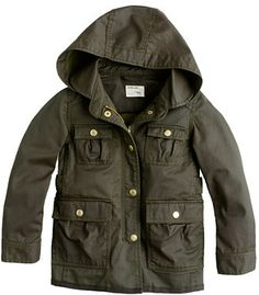 J.Crew Girls' hooded downtown field jacket