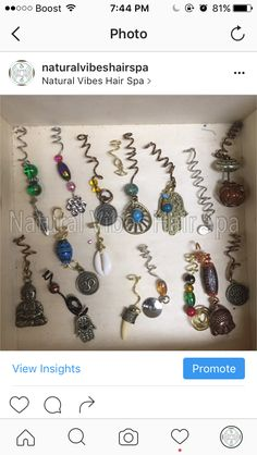 ✨🌀Loc Jewelry Sale❗️🌀✨ All custom loc coils, tumbled stones and other loc jewelry ranging from $5-$7. ✨💎🔮🌀Stop by the spa 2917 Guess Rd Durham NC to get yours today! Also place orders or requests at StyleSeat.com/bristaytwistin. Text 9194217551 with any questions.  #locadornment #loccoils #coppercoil #metaphysicalplane #highvibes #naturalvibeshairspa #vibratehigher #meditation #frequencies #gold #copper #bronze #yoga #yogajewelry #meditationjewelry #mantra  #tumbledstones
