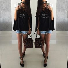"""""""Sunday mood☀️ Black is my favorite color! Look ALL @itstoreonline ▪️◼️▪️#ootd #outfit #itstoreonline"""""""