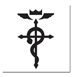 Full Metal Alchemist - Elric symbol temporary tattoo for Cosplay from ...