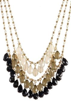 Tri-Layer Bead Necklace