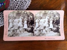"Antique Stereograph Card ""Sealing their bliss"" by B. Vintage Labels, Vintage Postcards, The Brethren, Lazy Sunday, Vintage Advertisements, Bliss, Craft Supplies, How To Make Money, Black And White"