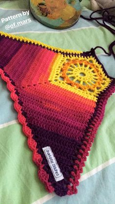 Fruity Sunrise Sunburst Mosaic Crochet Top These dazzling sunburst inspired crochet tops are a perfect addition to any summer outfit! Wear it on its own, or as a statement bralette under flowy or long Crochet Halter Tops, Bikini Crochet, Crochet Bodycon Dresses, Crochet Summer Dresses, Summer Dress Patterns, Black Crochet Dress, Crochet Crop Top, Dress Summer, Summer Shorts