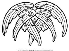 Color The Bible: Six Winged Cherubim I just love this cherubim; I found it in a very old text and restored it for little ones to color.