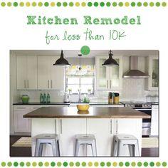 Affordable IKEA Kitchen (Adel White)