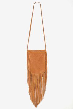 Bad Moon Rising Leather Fringe Bag - Brown - Bags + Backpacks