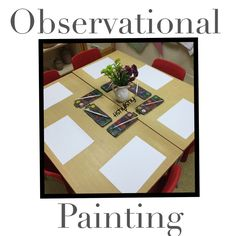 Observation painting invitation.