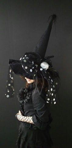 sombreros de brujas originales pepas blancas Sombreros De Brujas dd2052c8e08