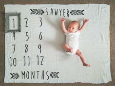 Personalized Baby monthly milestone by Littlewarriorapparel