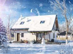 DOM.PL™ - Projekt domu ARP AMANT CE - DOM AP1-30 - gotowy koszt budowy Home Fashion, Cabin, House Styles, Outdoor Decor, Home Decor, Decoration Home, Room Decor, Cabins, Cottage