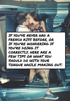 How to use your tongue when french kissing