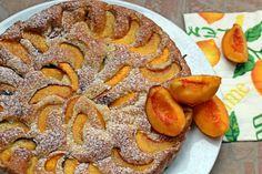 őszibarack barack édességek pite tojás vaníliás cukor cukor tejföl olaj liszt sütőpor Cukor, Apple Pie, Tiramisu, Sweet, Food, Meal, Essen, Apple Pies, Hoods