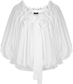 ShopStyle: White Off-Shoulder Ruffle Blouse