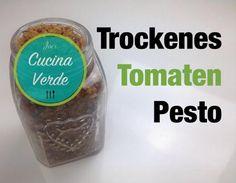 Tomatenpesto - trocken und ewig haltbar - Rezept von Joes Cucina Verde Pasta, Dried Tomatoes, Vegetarian Recipes, Food Portions, Noodles, Ranch Pasta