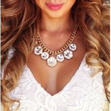 Glam Rhinestone Statement Necklace at Tres Chic Boutique